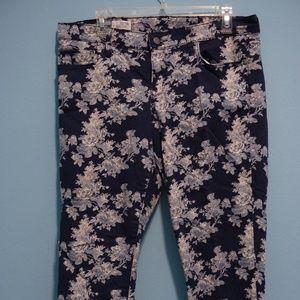 Patterned denim jeans GAP